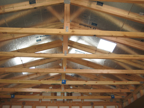 California custom sheds radiant roof sheathing for Roof sheathing material options