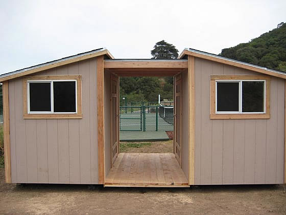 California Custom Sheds 2 Shed Roofs With Overhang And Deck