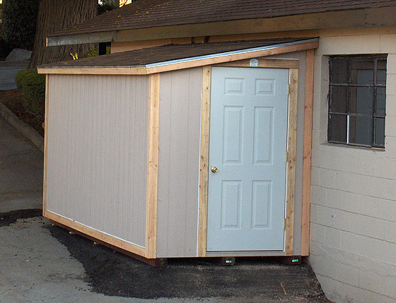 California Custom Sheds 6x14 Shed Roof