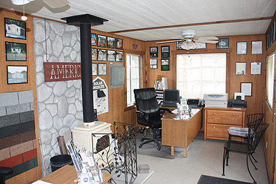 California custom sheds our 20x10 truss package office for Shed office interior